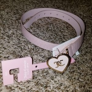 Juicy Couture Pink Heart Snakeprint Belt